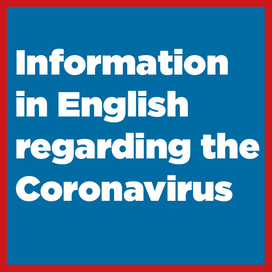 Information in English and other languages about the spreading of the Corona virus